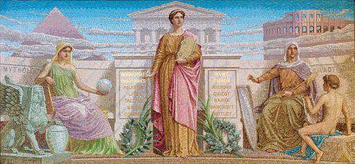 History, mosaic by Frederick Dielman. House Members Room, Library of Congress Thomas Jefferson Building, Washington, D.C.
