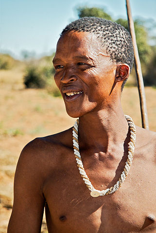 A San (Bushman). Image credit: Ian Beatty from Amherst, MA, USA via Wikipedia