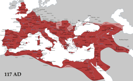 Map of the Roman Empire at its greatest extent