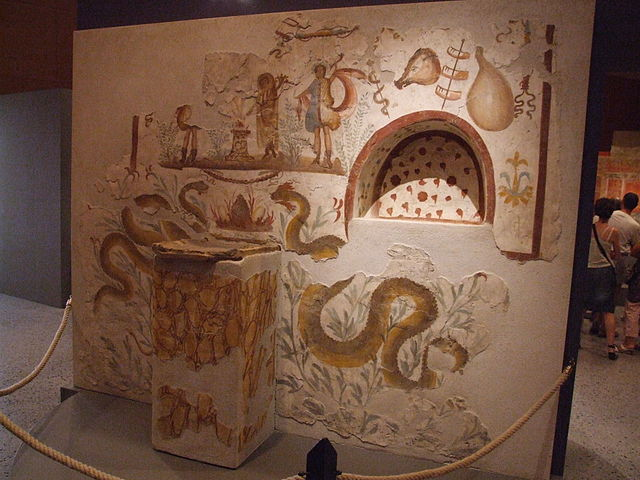 Picture of an ancient household alter.